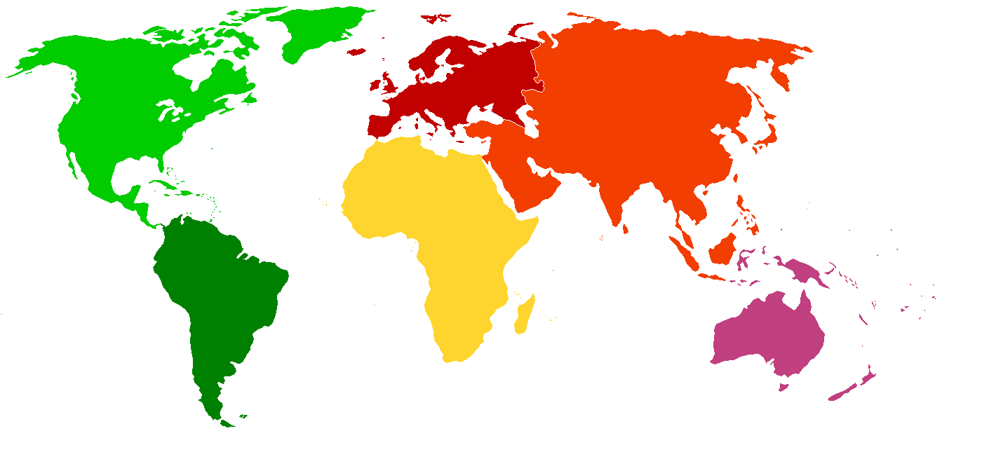 World Map Continents For Kids